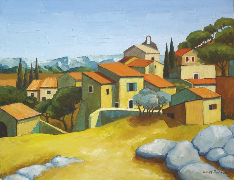 Eygalière, 2008   Huile, 65 x 50 cm