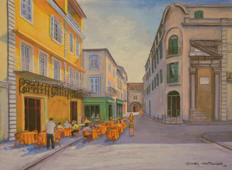 Café la nuit, Arles, 2014   Pastels, 45 × 35 cm