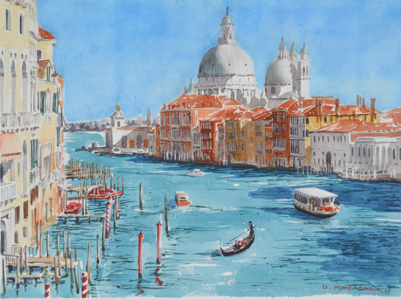 Venise, le grand canal, 2015 | Aquarelle, 40 × 30 cm